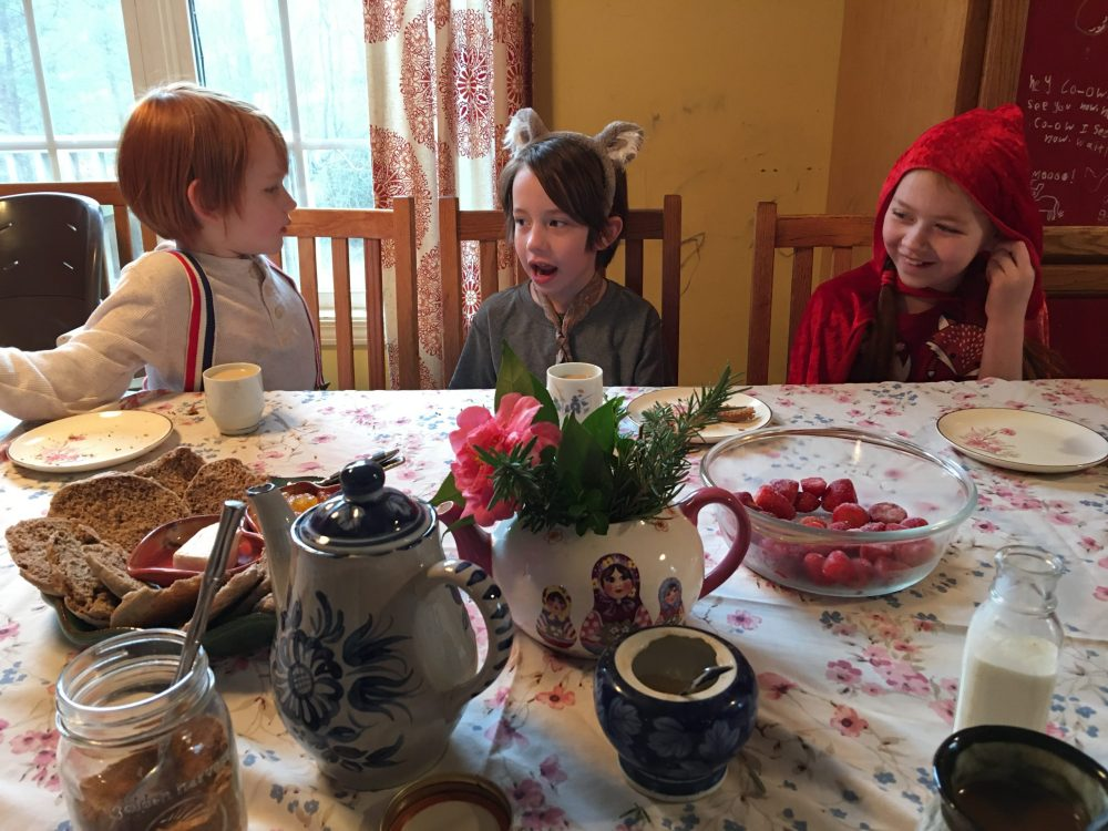 instant dress up tea party, creative family culture, sacred everyday, mackenzie chester