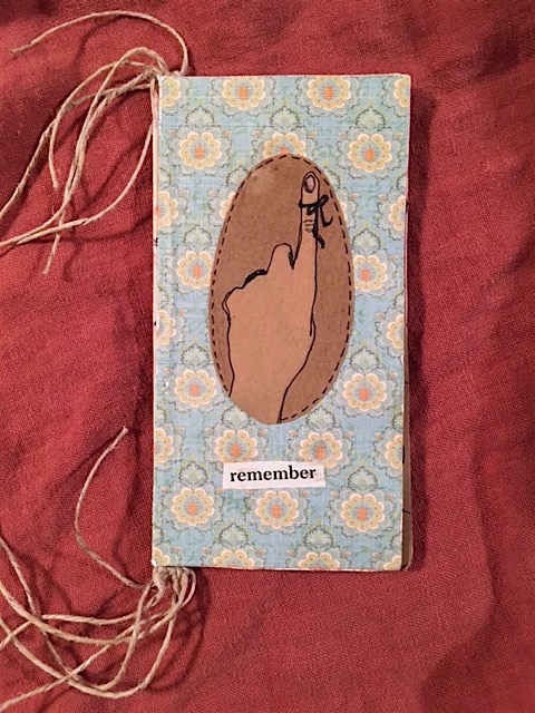 birth journal, journal, handmade, tied binding, art, birth,