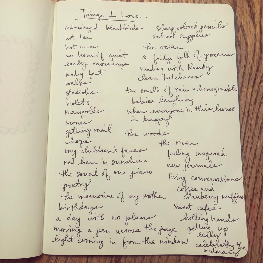 journaling prompt, things I love, mackenzie chester, the sacred everyday, journal with me