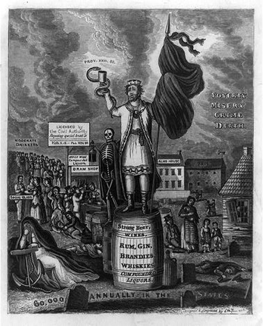 Political Cartoons and Informational Video   Temperance Movement 1826