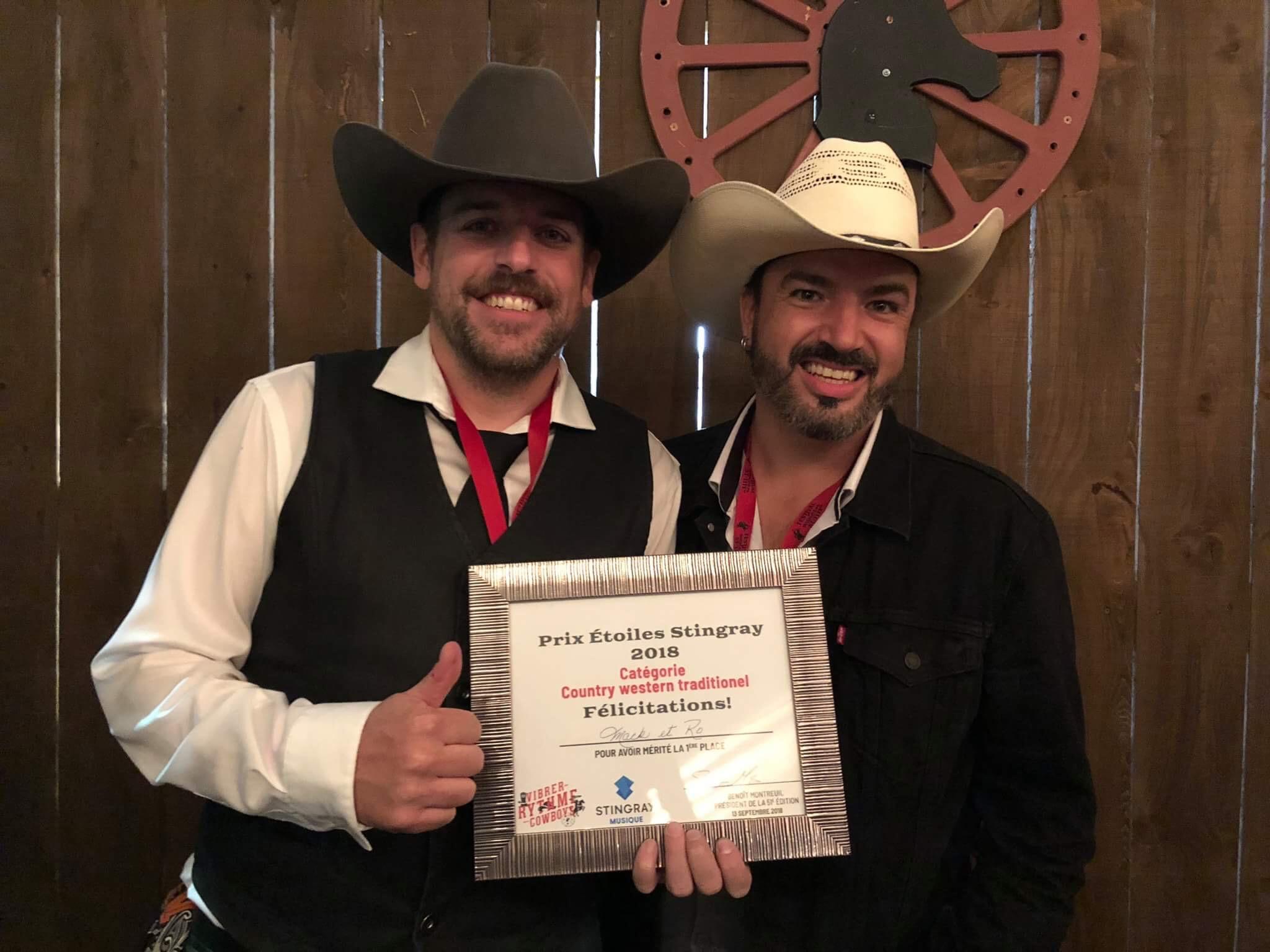 Mack et Ro remporte le Prix Étoiles Stingray 2018 au Festival western de St-Tite