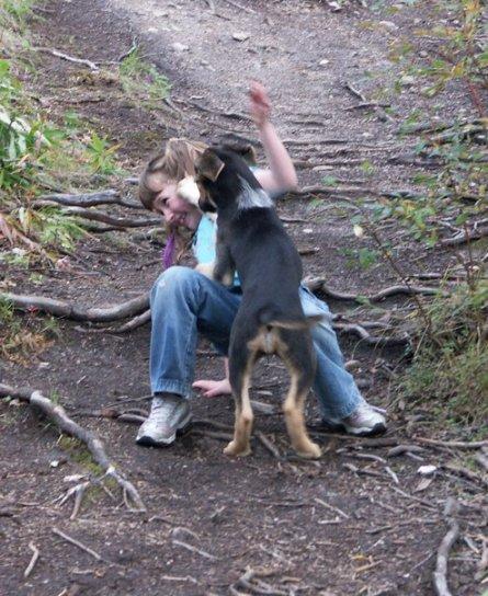 Minty and Iz Angel Rocks hike