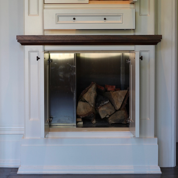 Log Box Fireplace Toronto MacKneson Design Inc