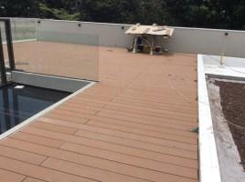 Raised Composite Wood Decking on Sika Sarnafil installation