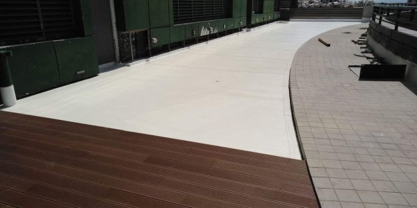 Sarnafil installation at One McKinley Place Penthouse Roof Deck