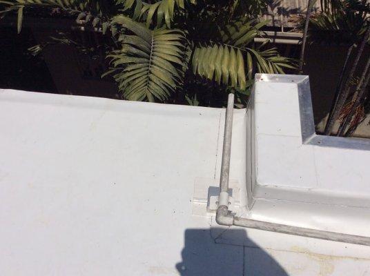 Lorenzo-Rillo roof deck Sarnafil at scupper drain