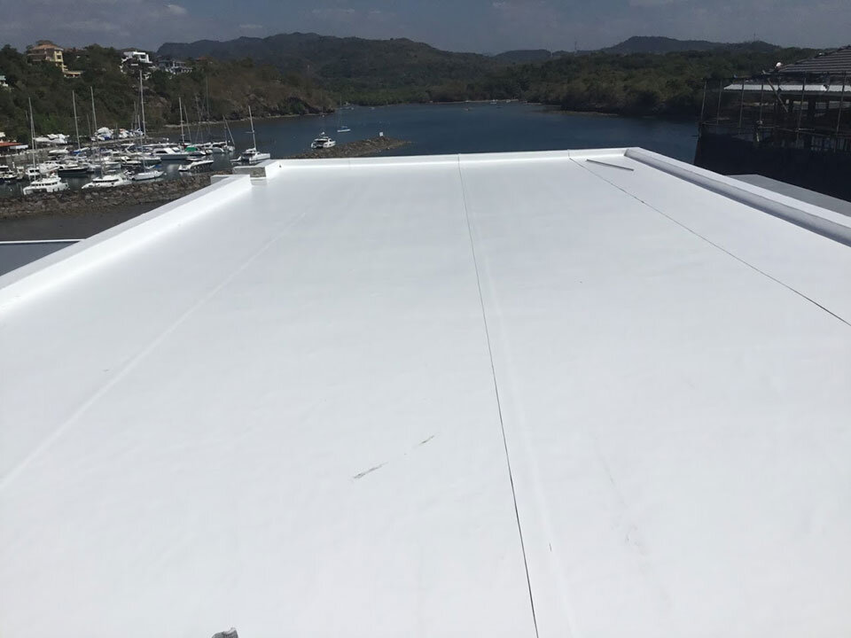 Katy Paradies Roof Deck with Sarnafil