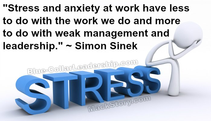 Stress quote by Simon Sinek