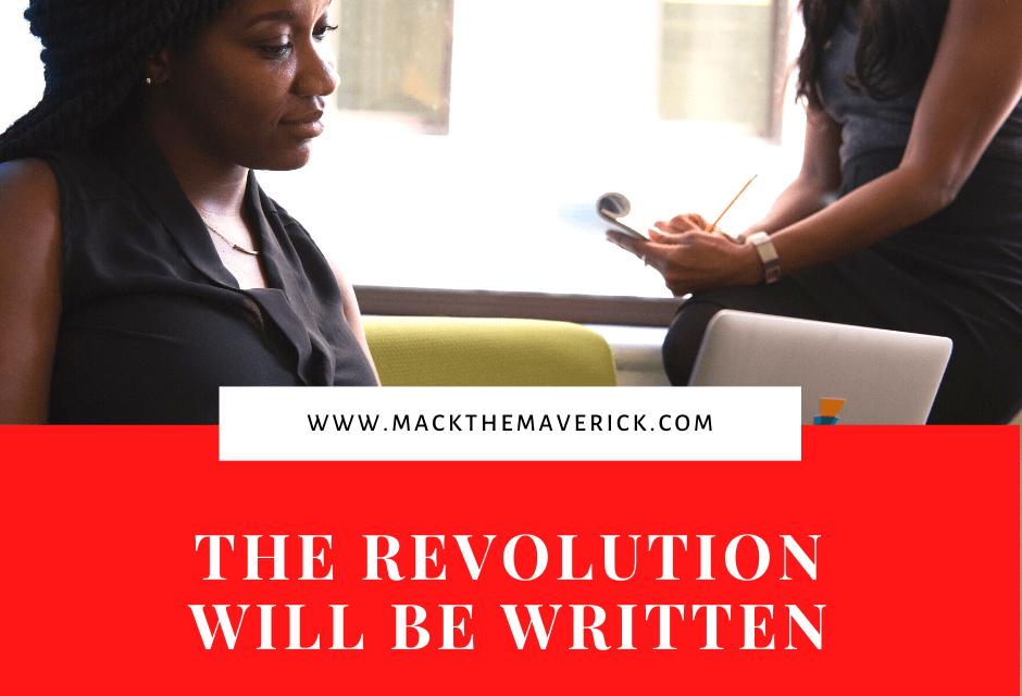 Black women writing macbook