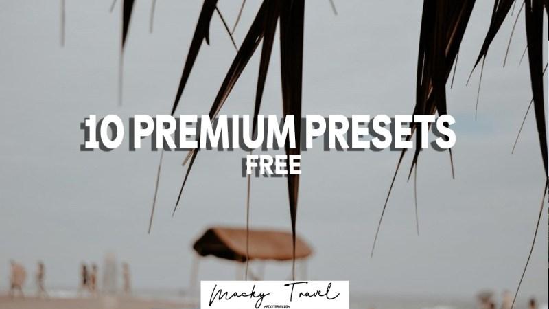 10 PREMIUM PRESETS LIGHTROOM DNG XMP