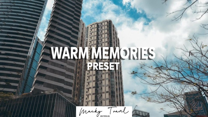 free dng warm memories lightroom mobile persets