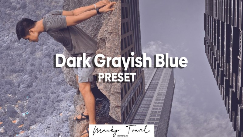 dark grayish blue lightroom mobile presets dng