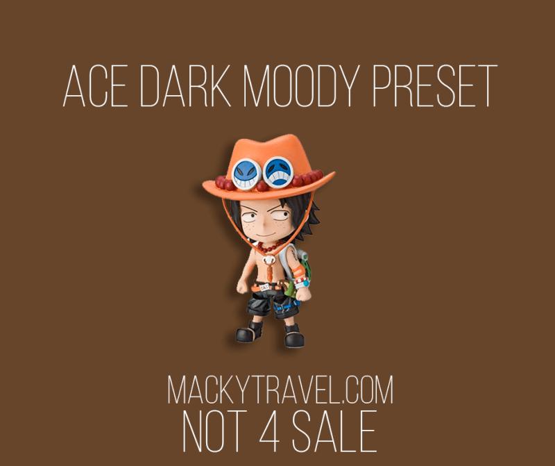 Ace Dark Moody Lightroom Mobile Preset
