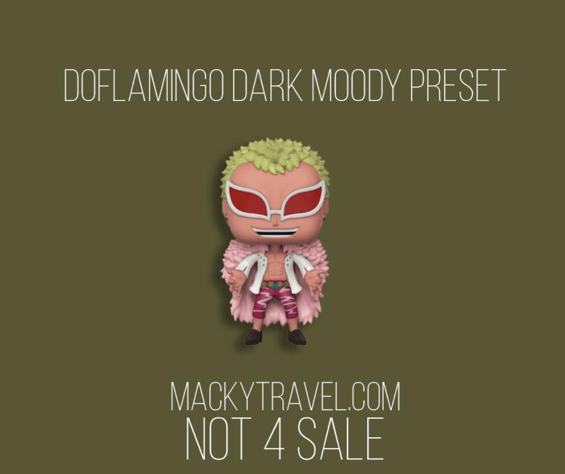 Doflamingo Dark Moody Lightroom Mobile Preset