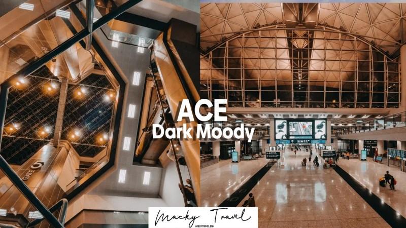 ace dark moody lightroom preset