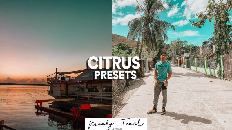 6 premium citrus lightroom presets
