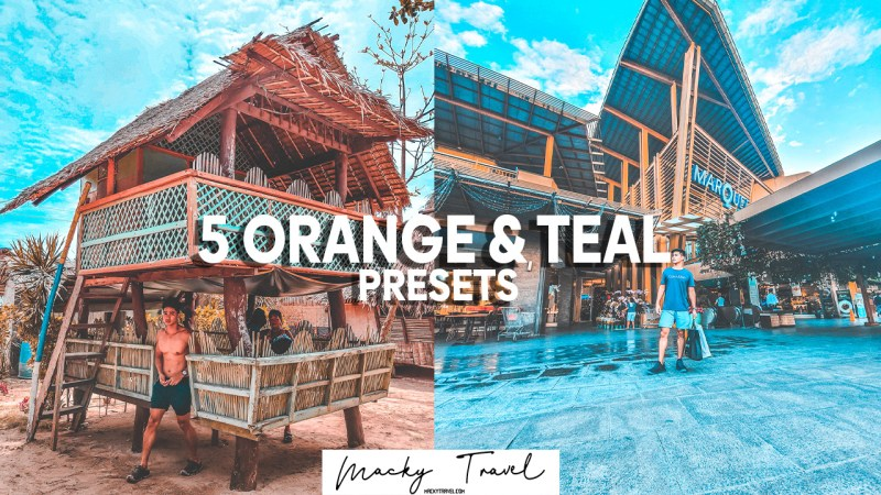5 new orange and teal lightroom presets