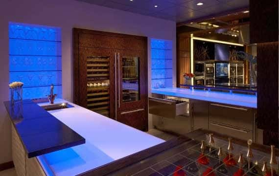 Sub Zero Atlanta Bar with multi-colored LED lights