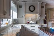 Calcutta Gold Marble Countertop Backsplash
