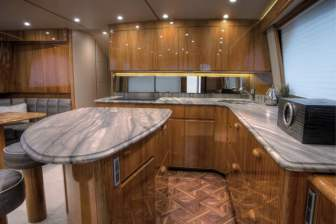 viking 62 convertible yacht granite countertop perimeter