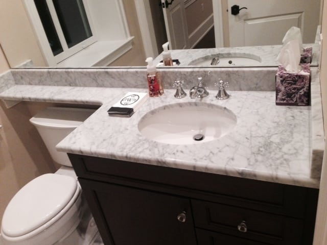 Custom Marble Countertops MacLaren Kitchen And Bath Impressive Custom Bathroom Countertops