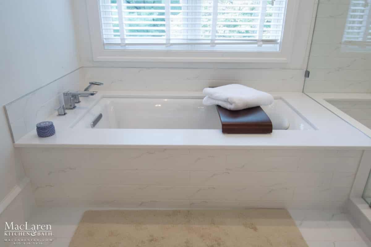 White Corian Master Bathroom- Bryn Mawr, PA - MacLaren