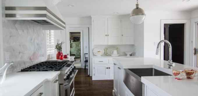 White Modern Avalon Kitchen