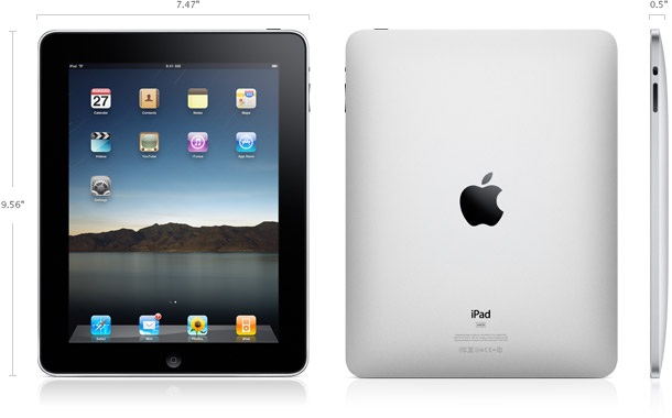 iPad front and back view