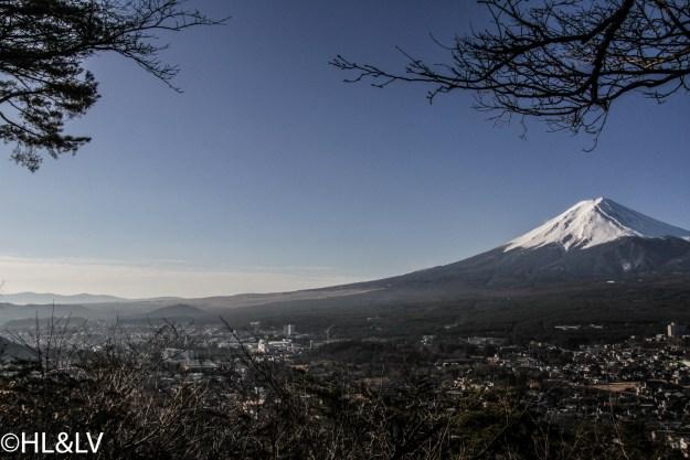 远眺富士山