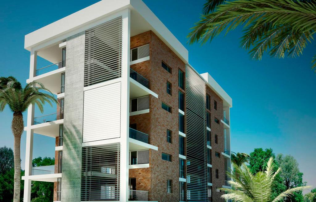 pared de lamas verticales para edificios