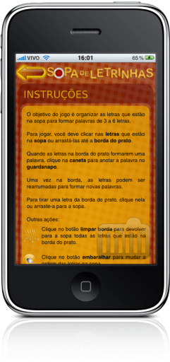 Sopa de Letrinhas no iPhone