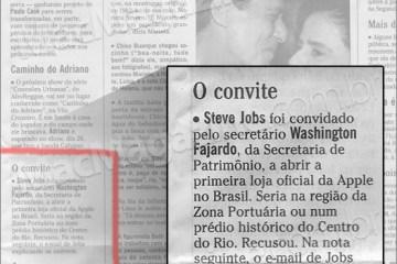 Steve Jobs sobre Apple Store Brasil