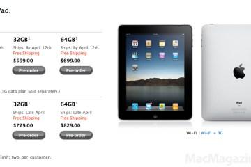 iPads só disponíveis para 12 de abril