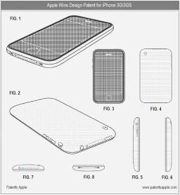 Patente de design dos iPhones 3G e 3GS
