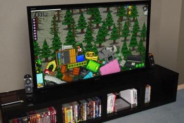 The Incident sendo jogado numa TV