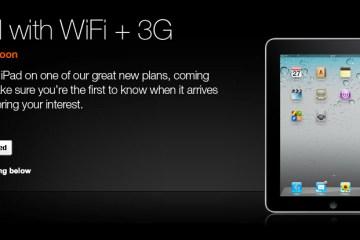 iPad com Wi-Fi+3G na Orange