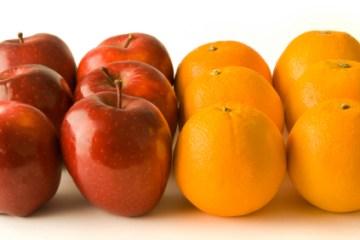Maçãs e laranjas