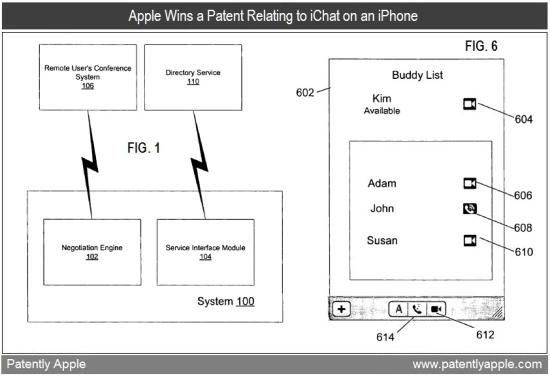 Patente de iChat para iPhone