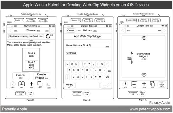 Patente de widgets a partir de web clips