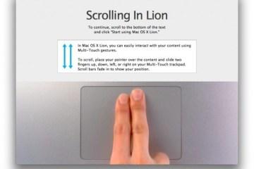Scrolling no Lion