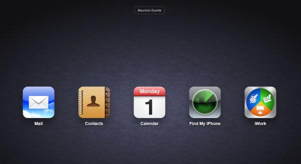 Web apps do iCloud.com