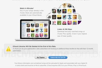 iTunes Match reaberto