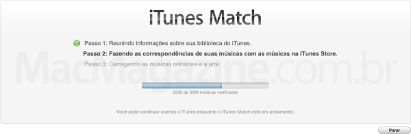 iTunes Match rodando no Brasil