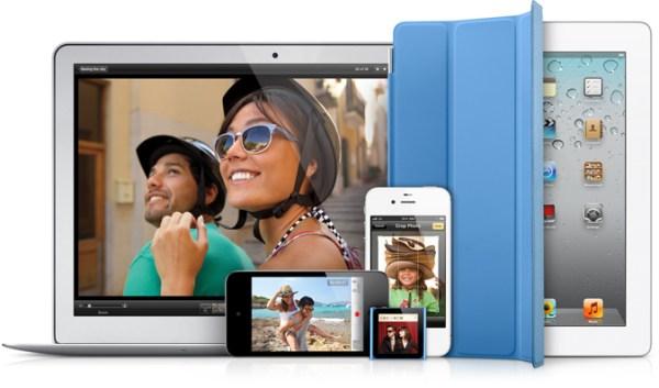 Família recente de produtos Apple - iProducts