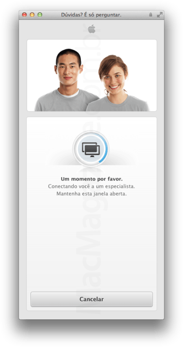 Assistência de compra de iPad na Apple Online Store brasileira