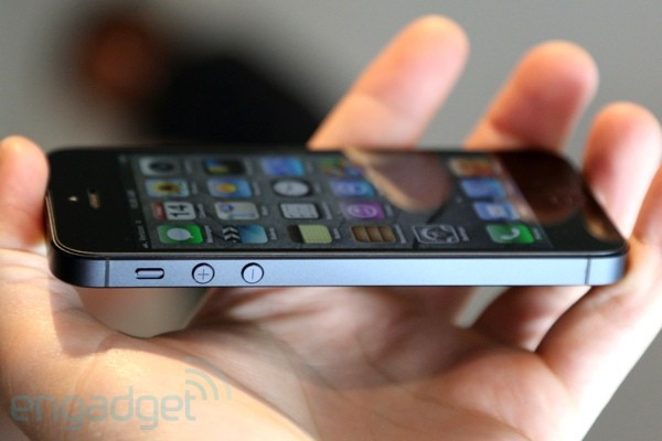 iPhone 5 de lado, via Engadget