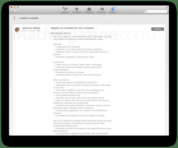 OS X 10.8.2 na Mac App Store