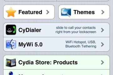 Cydia Store no iPhone 5