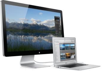 Thunderbolt Display conectado em MacBook Air