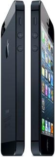 iPhones 5 pretos de lado